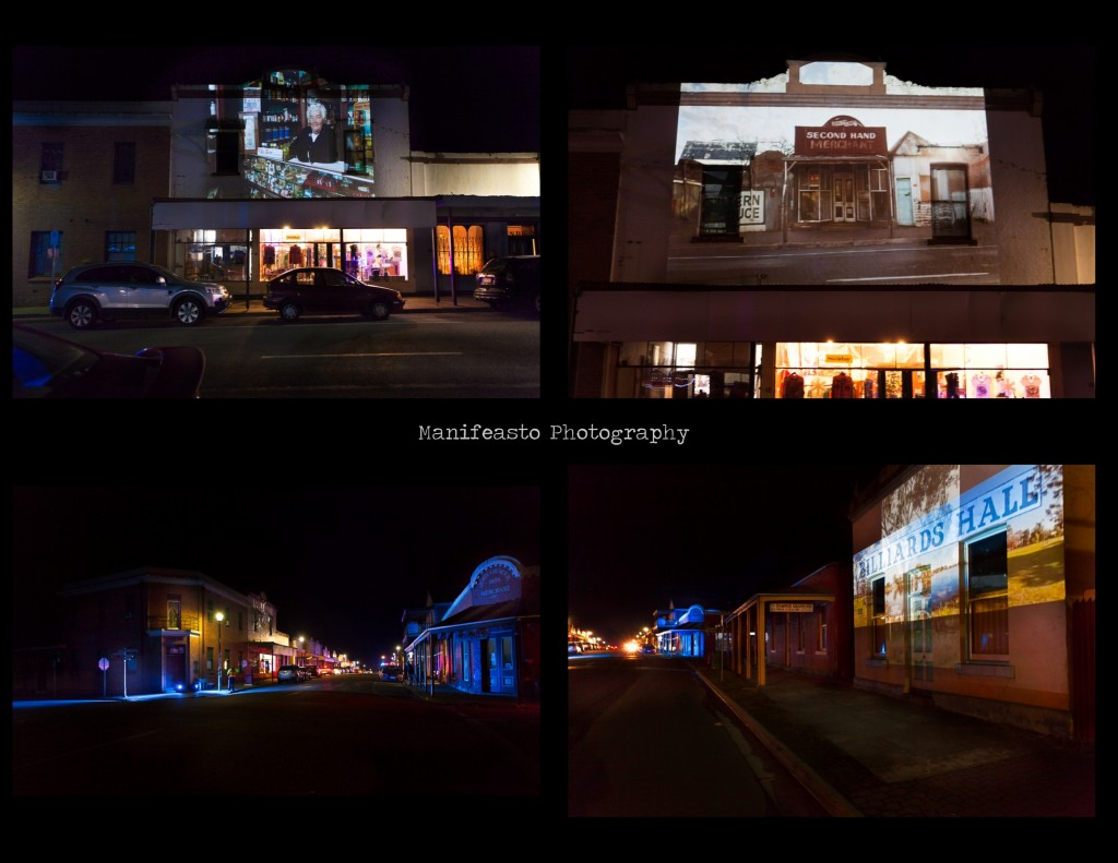 Photos of projections in Chiltern for the After Dark event.