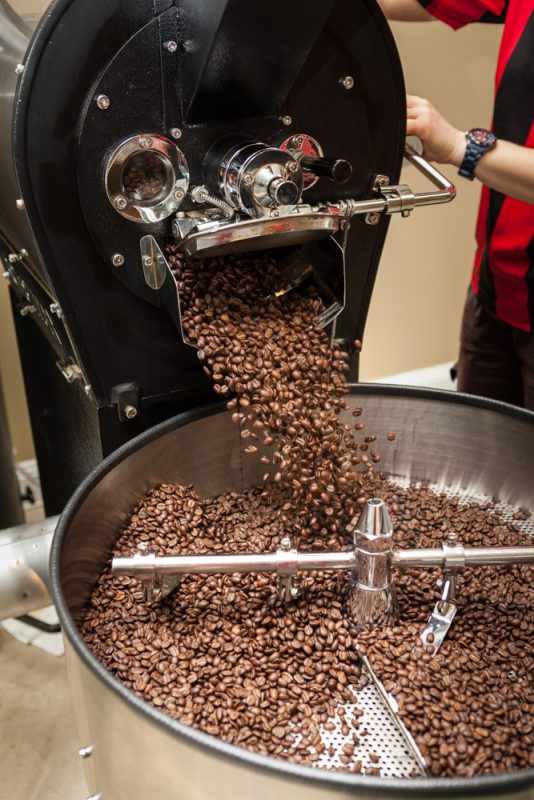 Commerical photography of coffee roasting for BLYNZZ Beechworth