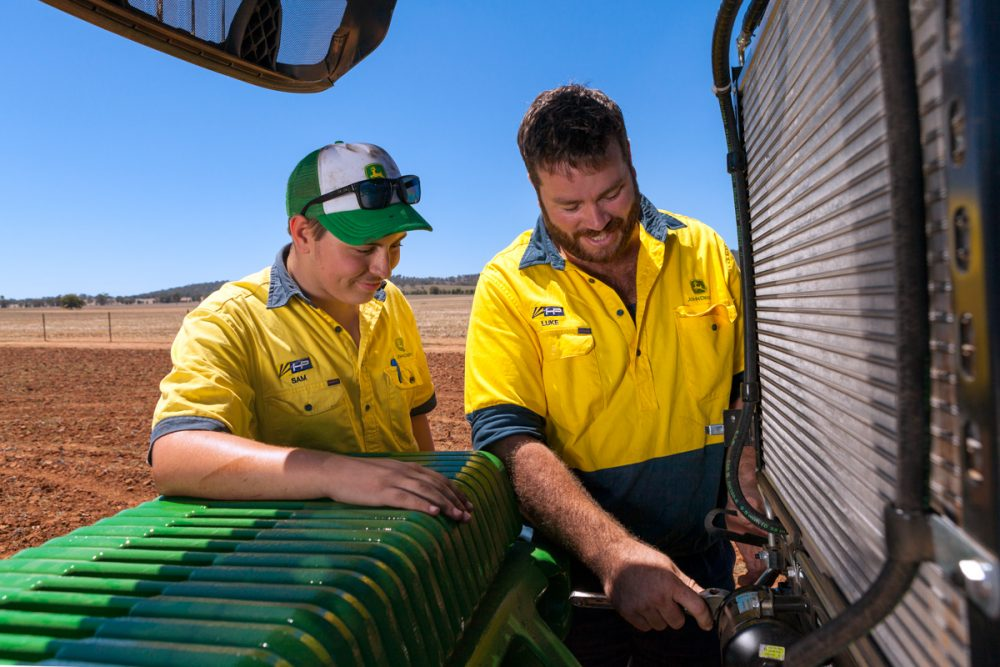Editorial and commercial photography for Hutcheon & Pearce Training top gun john deere